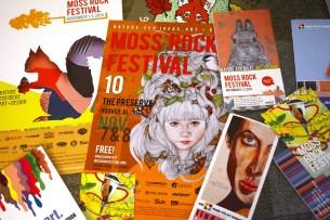 Promotional materials from several years of Eileen Kunzman's art festivals. (Karim Shamsi-Basha / Alabama NewsCenter)