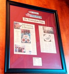 Alabama's oldest restaurant celebrated its centennial a decade ago. (Brittany Faush / Alabama NewsCenter)