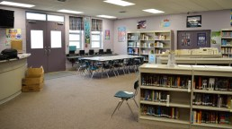 The library and classroom at Mt. Meigs where Writing Our Stories classes are taught. (Anne Kristoff / Alabama NewsCenter)
