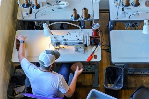 Holtz Leather is a 2-year-old company that already employs 30 people to produce a variety of handmade products. (Mark Sandlin / Alabama NewsCenter)