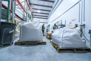 To Your Health Sprouted Flour Company initially occupied a space in Jeff Sutton's barn, but it now takes up three production buildings, employs more than 30 people and produces 80,000 pounds of flour per week. (Mark Sandlin / Alabama NewsCenter)