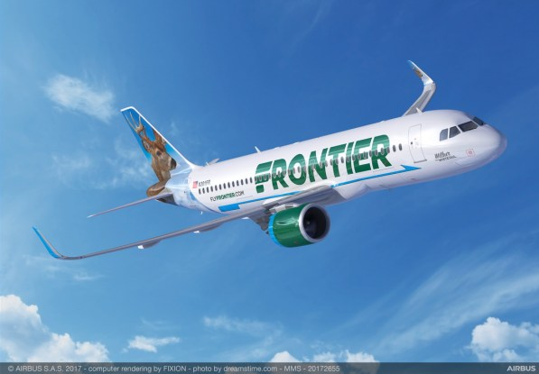 Indigo Partners' deal includes A320neo planes for Frontier Airlines. (Airbus)
