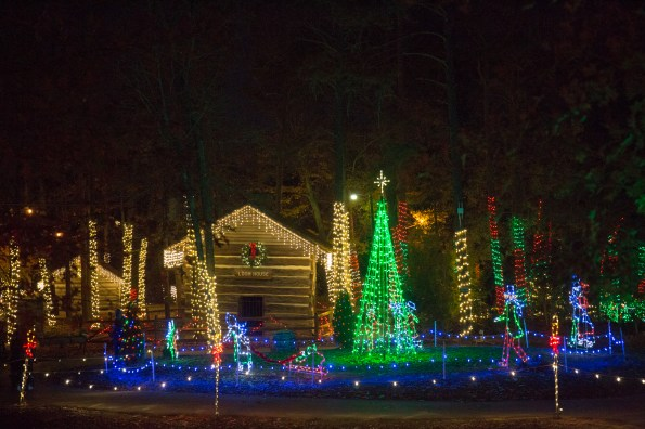Enjoy beautiful, decorative lights nightly at Christmas at the Falls in Gadsden. (Contributed)