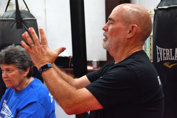 When Gary Ellis got a punch in the gut with a Parkinson's diagnosis, he decided to punch back by bringing Rock Steady Boxing to Gulf Shores. (Karim Shamsi-Basha / Alabama NewsCenter)