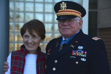 Retired Capt. Gary Rose with his wife, Margaret. (Karim Shamshi-Basha/Alabama NewsCenter)