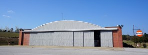 Hangar 1, original to Moton Field, contains the Visitor Center and a museum that focuses on cadet arrival and basic training. (Erin Harney, Alabama NewsCenter)