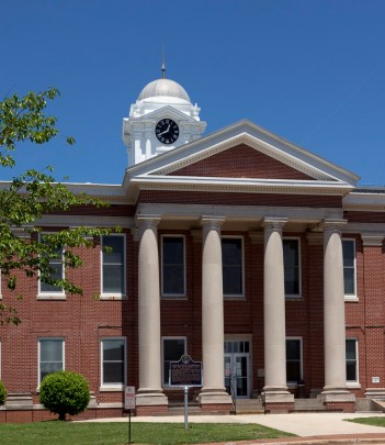 Jackson County Courthouse in Scottsboro, 2010. (The George F. Landegger Collection of Alabama Photographs in Carol M. Highsmith's America, Library of Congress, Prints and Photographs Division)