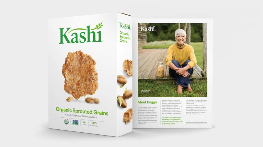 Kashi, made by Kellogg's, put Peggy Sutton's product in its cereal and her picture and story on the box. (Mark Sandlin / Alabama NewsCenter)