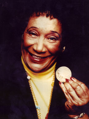 Alice Coachman was the first black woman to win an Olympic gold medal and the first African American woman to medal in an Olympic track and field event. She began her track and field career at Tuskegee Institute (now Tuskegee University) in Macon County. (From Encyclopedia of Alabama, Alabama Sports Hall of Fame)
