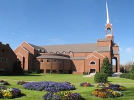 Briarwood Presbyterian Church in Birmingham was founded by Rev. Frank Barker Jr. in 1960. The church was the site of the formal establishment of the National Presbyterian Church in 1970. (From Encyclopedia of Alabama, courtesy of Briarwood Presbyterian Church)