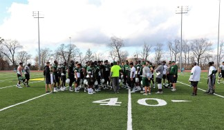 The South Florida Bulls practice for the Birmingham Bowl. (Birmingham Bowl)