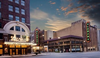 A rendering shows the Alabama Theatre with its second sign restored. (Contributed)