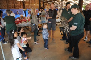 The Alabama Wildlife Center's Barred Owl excited visitors of all ages at the Craft and Bake Sale. (Contributed)