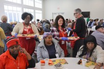 Rikesha Foster and Wendy Malone get a sense of joy from serving others through the Salvation Army. (Karim Shamsi-Basha / Alabama NewsCenter)