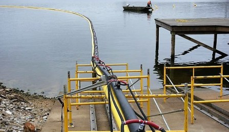 A new aeration system will improve water quality for fish and other aquatic species in Logan Martin Lake. (Alabama NewsCenter)