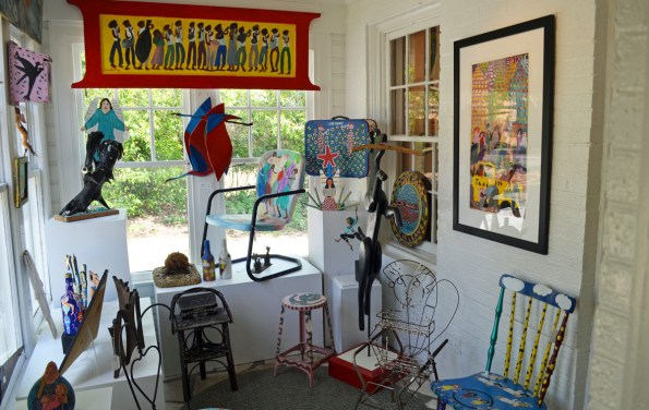 Every room of the gallery is filled with art. (Anne Kristoff / Alabama NewsCenter)