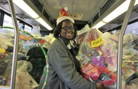 Erica Lamar-Coney said she's blessed to be involved with the Salvation Army Angel Tree project. (Donna Cope/Alabama NewsCenter)