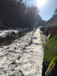 A downed power line in the wake of Friday's snowstorm. (Alabama Power)