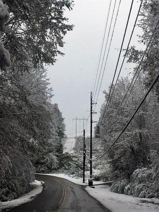 Snowfall offered a new look to familiar vistas throughout Alabama. (Donna Cope / Alabama NewsCenter)