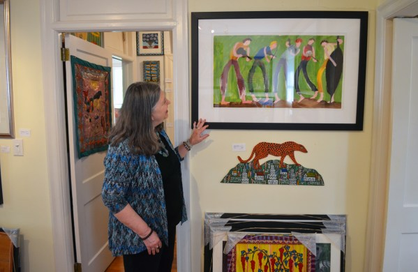 Weber gravitated to contemporary folk art once she took off her fine art glasses. (Anne Kristoff / Alabama NewsCenter)
