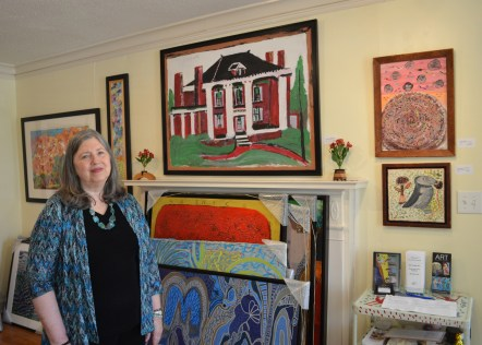 Weber in the front room of her gallery. (Anne Kristoff / Alabama NewsCenter)