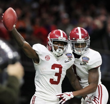 Alabama wide receiver Calvin Ridley (3) during his team's New Year's Day victory over Clemson. (Crimson Tide Photos)