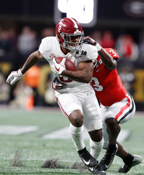 Alabama running back Josh Jacobs (8) in the National Championship Game. (Crimson Tide Photos)