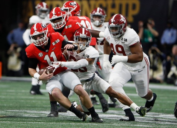 Alabama defensive back Anthony Averett (28) in the National Championship Game. (Crimson Tide Photos)