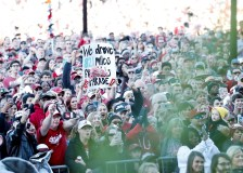 An estimated 40,000 fans turned out for the Alabama Crimson Tide national championship celebration. (Amelia B. Barton)