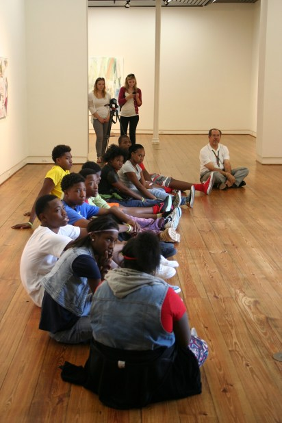 Students tour the Paul R. Jones Museum of American Art. The museum will feature an exhibit on art and jazz beginning Wednesday. (University of Alabama Department of Art and Art History)