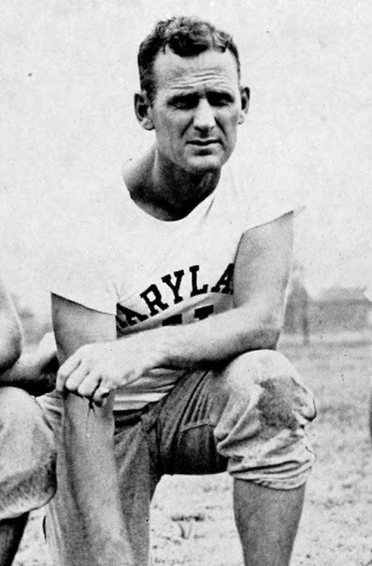 A 32-year old Bear Bryant while head football coach at the University of Maryland, 1945. (From The Terrapin, the University of Maryland yearbook, University of Maryland, Wikipedia)