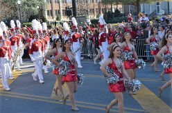 The Million Dollar Band marches in the national championship celebration parade in January 2018. (Michael Tomberlin / Alabama NewsCenter)