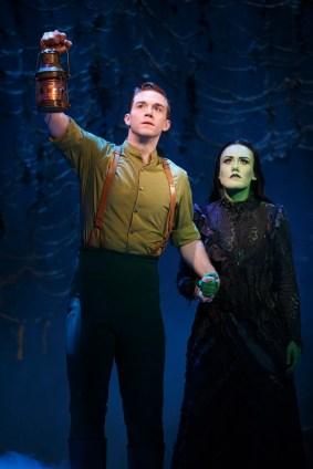 """Jake Boyd as Fiyero and Emily Koch as Elphaba in """"Wicked."""" (Joan Marcus)"""
