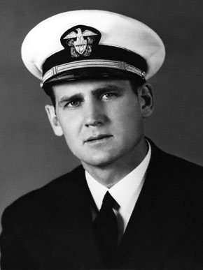 """Paul """"Bear"""" Bryant enlisted in the U.S. Navy in the early 1940s during World War II and was stationed in North Africa for a time between football-coaching stints at pre-flight schools. (From Encyclopedia of Alabama, courtesy of Paul W. Bryant Museum, University of Alabama)"""