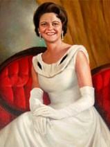 Lurleen Burns Wallace was Alabama's 46th governor, serving from 1967-68. Although she was largely elected to provide an unofficial second term to her husband, George Wallace, Lurleen Wallace was much beloved by the state's citizenry and elected with an overwhelming majority. (From Encyclopedia of Alabama)