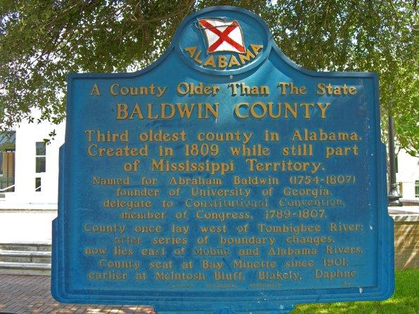 Baldwin County historic marker. (Jimmy Emerson, DVM, Flickr)
