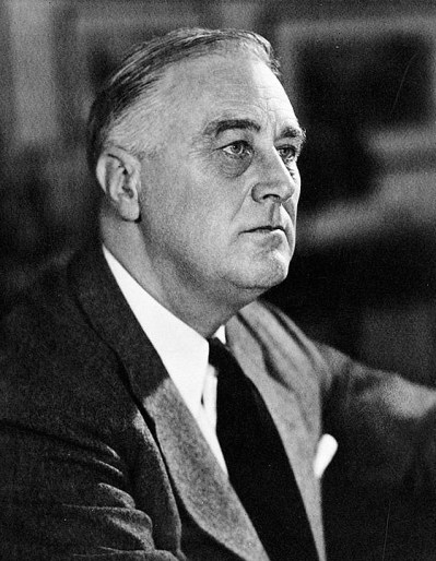 President Franklin D. Roosevelt, c. 1941. (Library of Congress Prints and Photographs Division)