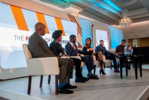Panelists discuss the challenges minorities face in securing careers in technology. (Billy Brown / Alabama NewsCenter)