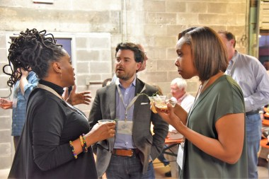 The Southern Foodways Alliance crowd not only love food, they love talking about it. (Brittany Faush/Alabama NewsCenter)