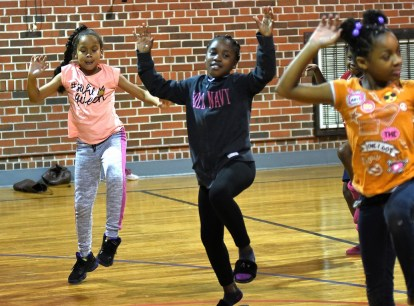 Dance has been a spirit-lifter for people over the centuries, and it has a key place in Sounds of Authority's performance. (Solomon Crenshaw Jr. / Alabama NewsCenter)