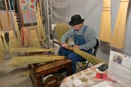 Broom artist, George Jones, of Florence, Alabama. (Michael E. Palmer)