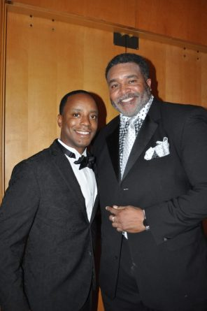 Ronnie Rice and Henry Johnson enjoy the gala. (Photo courtesy The Birmingham Times)