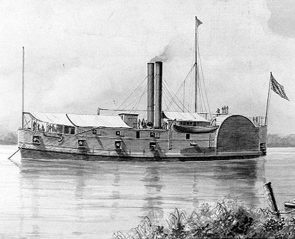 Artist's depiction of the USS Tyler, c.1900. (Artwork by F. Muller, Wikipedia)