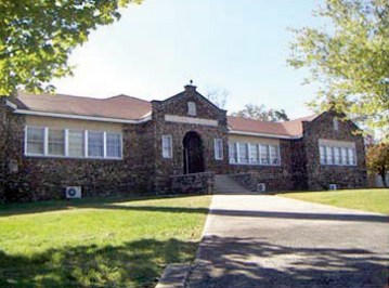 The Louise Wilson Jacobs building, constructed in 1924, contains the original four classrooms and auditorium of the Kate Duncan Smith DAR School in Grant, Marshall County. (From Encyclopedia of Alabama, courtesy of Angela C. Otts)