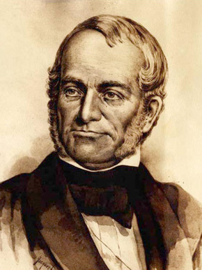 James G. Birney (1792-1857) was an influential lawyer and abolitionist, despite being from a slave-holding family. He owned a plantation in Triana, Madison County, and operated a law practice in Huntsville in the early decades of the nineteenth century. (From Encyclopedia of Alabama, photo courtesy of Alabama Mosaic)
