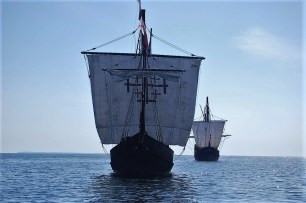 Niña and Pinta replicas are docked in Alabama at The Wharf at Orange Beach through March 5. (contributed)