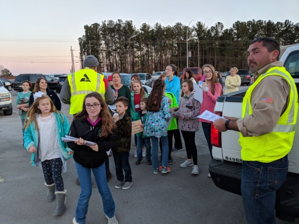 Children in Rainbow City came out to show support to Alabama Power crews during their restoration work in east Alabama. (contributed)