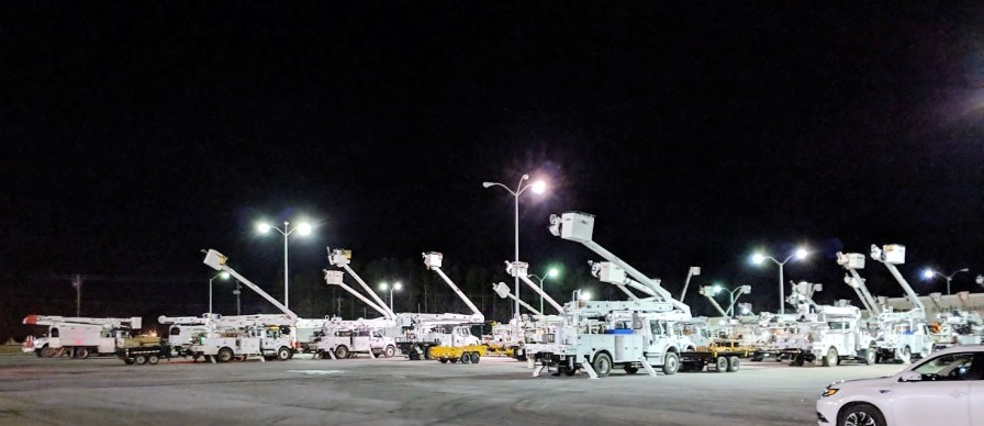 More than 1,800 men and women worked to restore power in east Alabama. (contributed)
