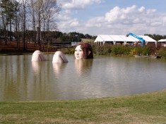 The lady in the water. (Barber Motorsports Park and Museum)