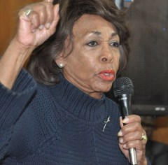 U.S. Rep. Maxine Waters, D-Calif., speaks as part of the Faith & Politics Institute Pilgrimage. (Stephonia Taylor McLinn/The Birmingham Times)